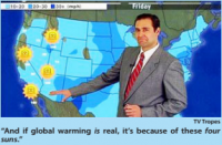 Weatherman Ends Each Forecast By Reminding Viewers Global Warming A Hoax